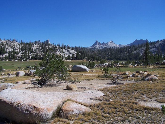 Backpacking near Sunrise High Sierra Camp, Yosemite National Park 2013.